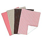 Trend Lab® 4-Pack Coca Coral Burp Cloths