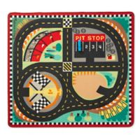 Melissa and Doug Speedway 39-Inch x 36-Foot Rug and Car Set