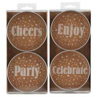 Thirstystone® Mason Jar Celebration Coasters (Set of 4)