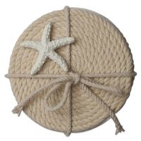 Thirstystone™ Rope Coasters with Starfish Ornament (Set of 4)