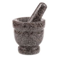 Granite Natural Stone 4-Inch Mortar & Pestle in Grey