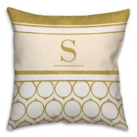 Golden Rings 18-Inch Square Throw Pillow