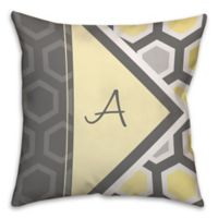 Geometric Hexagon 16-Inch Square Throw Pillow in Yellow