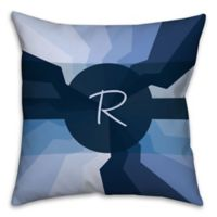 Spiral 18-Inch Square Throw Pillow in Navy