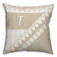 Neutral Diamond 16-Inch Square Throw Pillow