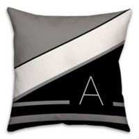 Mono Chevron 16-Inch Square Throw Pillow in Black/White
