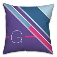 Bright and Bold 18-Inch Square Throw Pillow