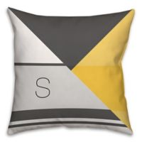 Color Blocking 16-Inch Square Throw Pillow in Grey/Yellow
