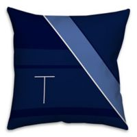 Navy Blocks 16-Inch Square Throw Pillow
