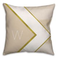 Geometric Hexagon 18-Inch Square Throw Pillow in Ivory/Gold