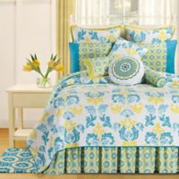 Delilah Reversible King Quilt in Blue/Yellow