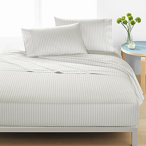 marimekko ajo sheet set in light grey bed bath beyond. Black Bedroom Furniture Sets. Home Design Ideas