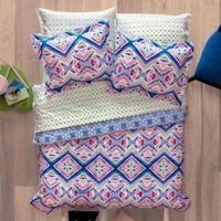 Aéropostale Kaleidoscope 7-Piece Reversible Full Comforter Set in Pink/Blue