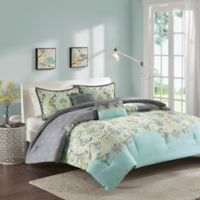 Intelligent Design Zana Full/Queen Comforter Set in Aqua