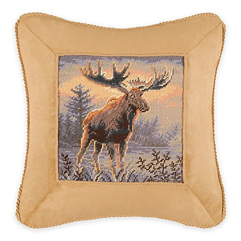 Northwoods Moose Square Throw Pillow - Bed Bath & Beyond