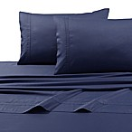 Tribeca Living Solid 500-Thread-Count Cotton King Pillowcases in Midnight Blue (Set of 2)