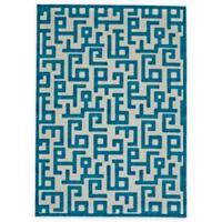 Feizy Gara Blocks 8-Foot x 11-Foot Rug in Blue/White