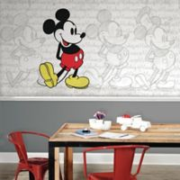 Mickey Mouse Classic Mickey XL Chair Rail Prepasted 10.5-Foot x 6-Foot Mural