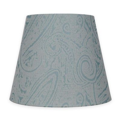 Buy light blue lamp shade from bed bath beyond patterned hardback fabric small lamp shade in teal aloadofball Choice Image