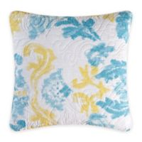 Delilah Square Throw Pillow in Blue/Yellow