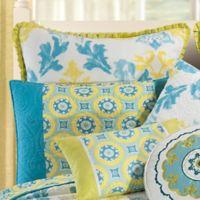 Delilah European Pillow Sham in Blue/Yellow