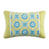 Delilah Oblong Throw Pillow In Blue Yellow