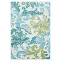 Feizy Gara Damask 5-Foot x 8-Foot Area Rug in Blue/Green
