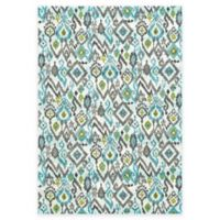 Feizy Gara Ikat 2-Foot 2-Inch x 4-Foot Accent Rug in Blue/Grey