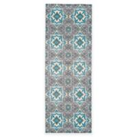 Feizy Gara Medallion Tile 2-Foot 10-Inch x 7-Foot 10-Inch Runner in Blue