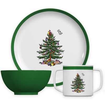 Spode® Christmas Tree 3-Piece Childrenu0027s Place Setting  sc 1 st  Bed Bath u0026 Beyond & Buy Christmas Dinnerware Sets from Bed Bath u0026 Beyond