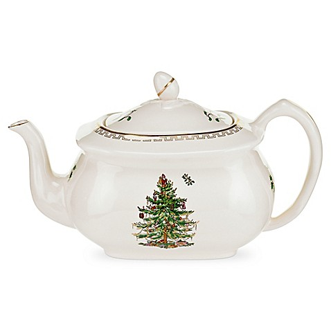 Spode Christmas Tree Gold Teapot Bed Bath Beyond
