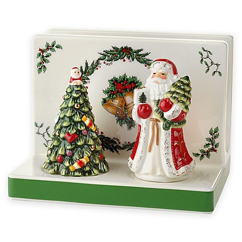 Spode Christmas Tree Napkin Holder And Salt And Pepper Set Bed Bath Beyond