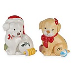Spode® Christmas Tree Puppy Salt and Pepper Shakers