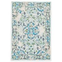 Feizy Gara Medallion 2-Foot 2-Inch x 4-Foot Accent Rug in Blue/White