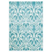 Feizy Gara Scrolls 8-Foo x 11-Foot Area Rug in Teal