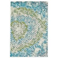 Feizy Gara Tiles 2-Foot 2-Inch x 4-Foot Accent Rug in Blue/Green