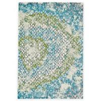 Feizy Gara Tiles 2-Foot 2-Inch x 4-Foot Accent Rug in Blue/Green
