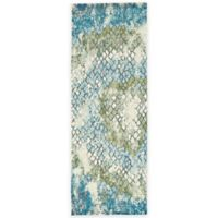 Feizy Gara Tiles 2-Foot 10-Inch x 7-Foot 10-Inch Area Rug in Blue/Green