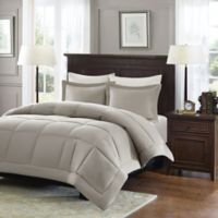 Madison Park Microcell Down Alternative King/California King Comforter Set in Taupe