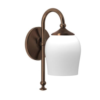 Wall Lamps Bed Bath Beyond : Gatco Tavern 1-Light Wall Sconce in Bronze with Glass Shade - Bed Bath & Beyond