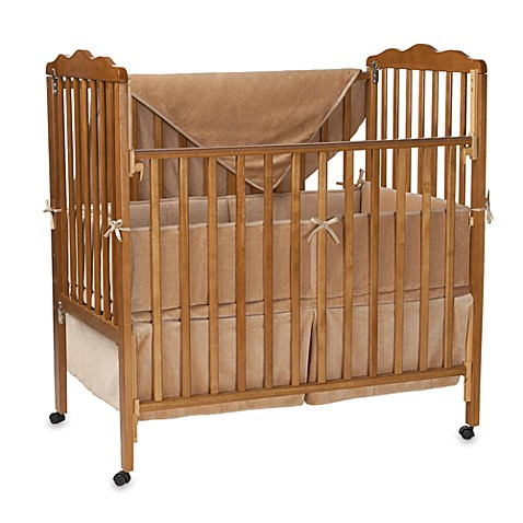 Natural Organic Cotton Velour 3-Piece Porta-Crib Set in Mocha