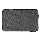 Bounce Comfort Drona Memory Foam 2-Piece Bath Mat Set  in Dark Grey