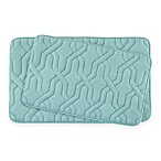 Bounce Comfort Drona Memory Foam 2-Piece Bath Mat Set in Aqua