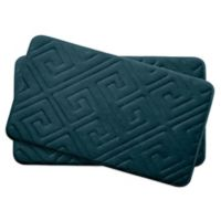 Bounce Comfort Caicos Memory Foam 17-Inch x 24-Inch Bath Mats in Slate (Set of 2)