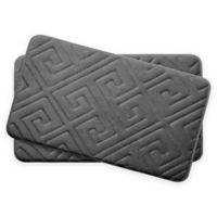 Bounce Comfort Caicos Memory Foam 17-Inch x 24-Inch Bath Mats in Dark Grey (Set of 2)