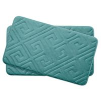 Bounce Comfort Caicos Memory Foam 17-Inch x 24-Inch Bath Mats in Blue (Set of 2)