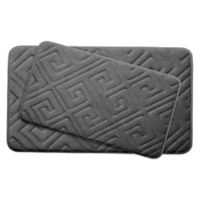 Bounce Comfort Caicos Memory Foam 2-Piece Bath Mats in Dark Grey