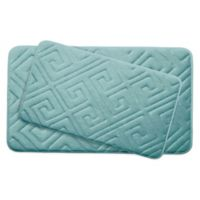 Bounce Comfort Caicos Memory Foam 2-Piece Bath Mat Set in Aqua