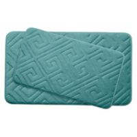 Bounce Comfort Caicos Memory Foam 2-Piece Bath Mat Set in Blue