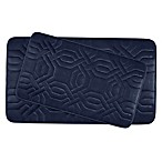 Bounce Comfort Chain Ring Memory Foam 2-Piece Bath Mat Set in Indigo